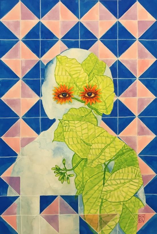 Flor de ciricote triptico I