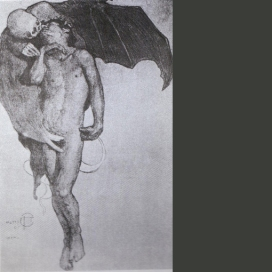 El beso de la muerte, 1913.